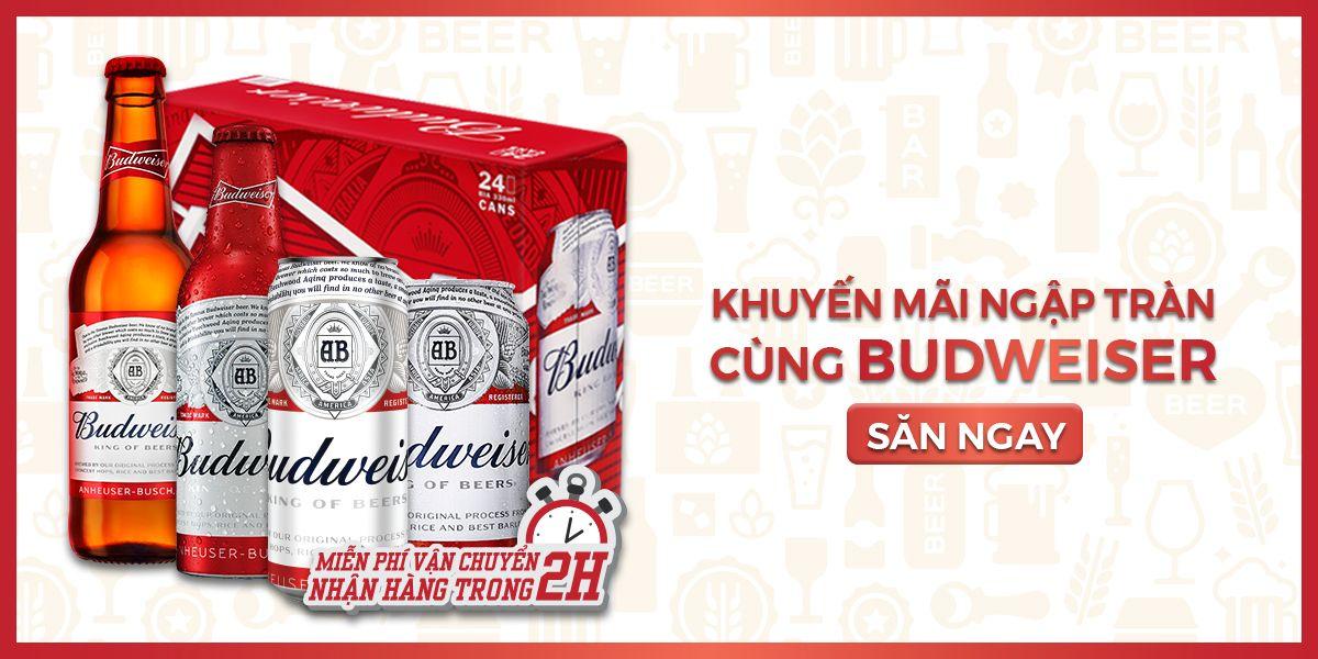 Mã giảm giá khuyến mãi Vuabia - Khuyến mãi ngập tràn cùng Budweiser