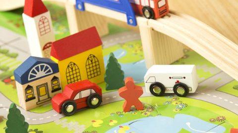 Shopee khuyến mãi khủng đến 40% cho Bộ đồ chơi gỗ: Lắp ghép giao thông đô thị