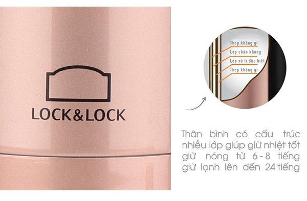 Cấu tạo bình giữ nhiệt Lock&Lock