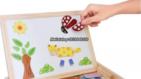 Khuyến mãi Shopee ƯU ĐÃI KHỦNG đến 48% cho Đồ chơi gỗ- Bảng ghép hình nam châm 2 mặt