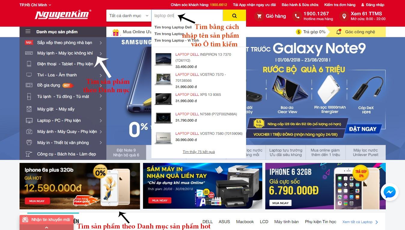 Tìm kiếm sản phẩm trên nguyenkim.com