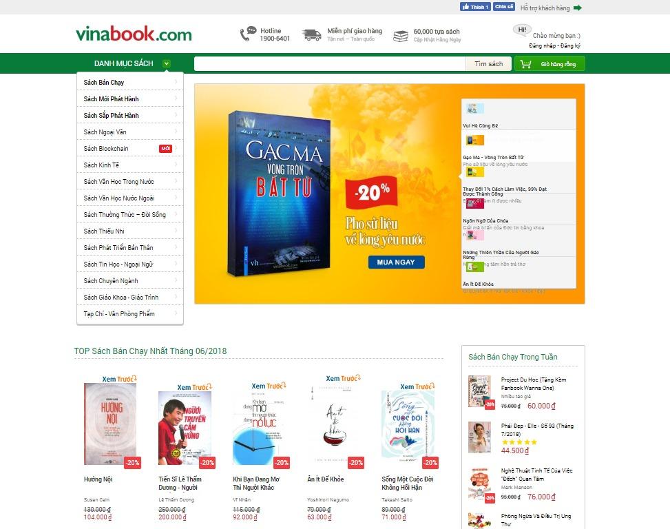 Trang chủ của Vinabook