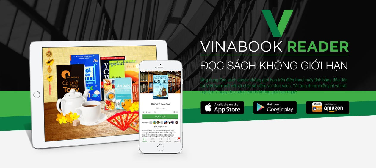 Ứng dụng đọc sách Vinabook Reader