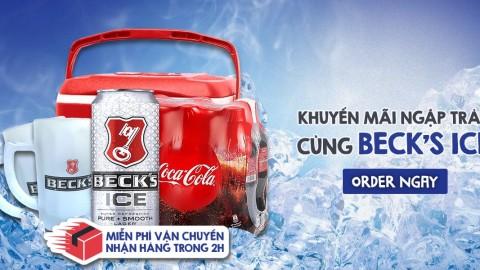 KHUYẾN MÃI NGẬP TRÀN CÙNG BECK'S ICE
