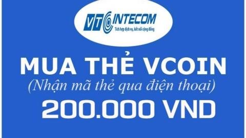 Khuyến mại Lazada APP giảm thêm 3% cho Mã thẻ Game VCoin 200.000