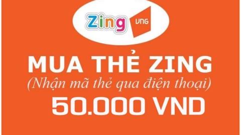 Lazada APP ưu đãi thêm 3% cho Mã thẻ Game Zingxu 50.000