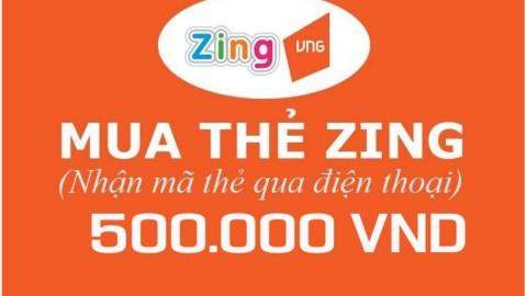 Khuyến mãi Lazada APP ưu đãi thêm 3% cho Mã thẻ Game Zingxu 500.000