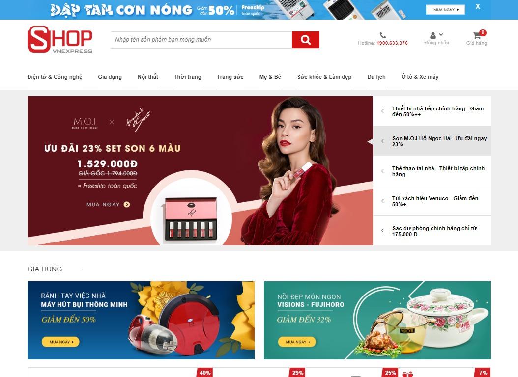 Trang bán hàng của Shop Vnexpress