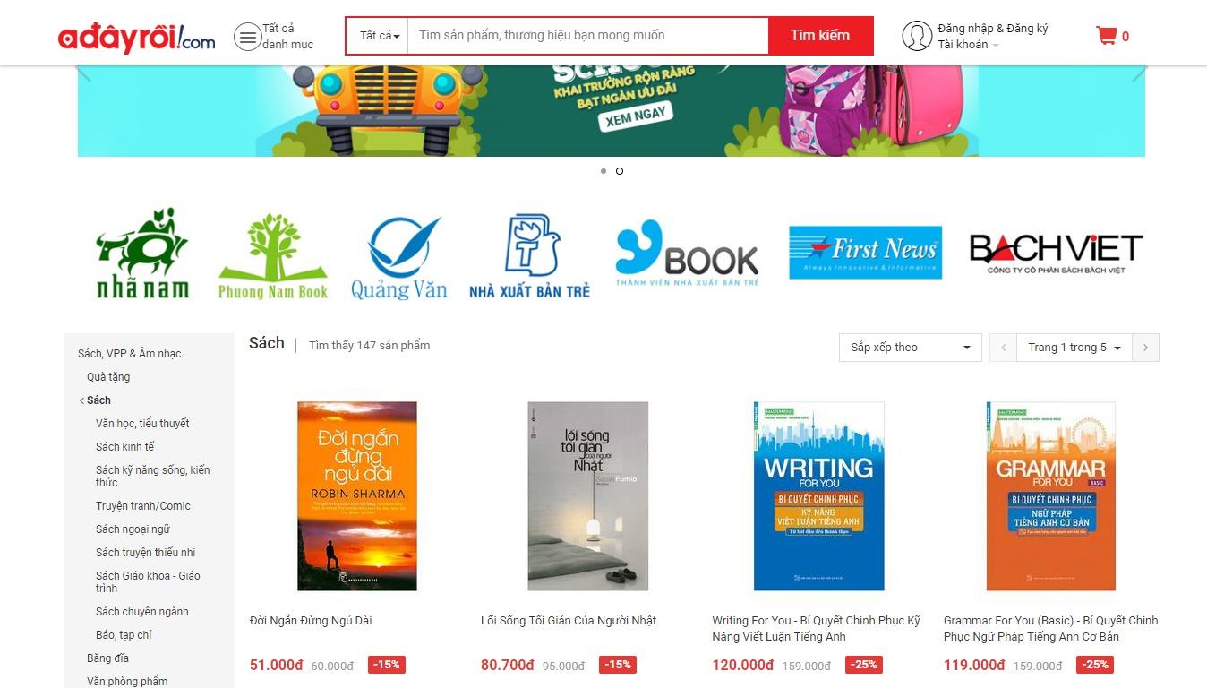 nhà sách online Adayroi
