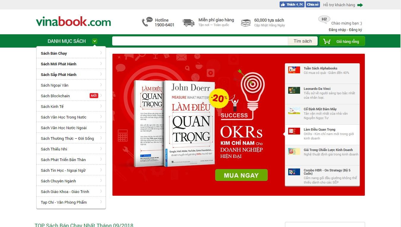 nhà sách online Vinabook