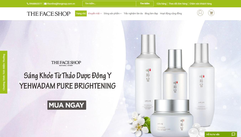Trang bán hàng của The Face Shop