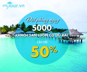 Đặt phòng ngay 5000 khách sạn luôn có ưu đãi lên tới 50%