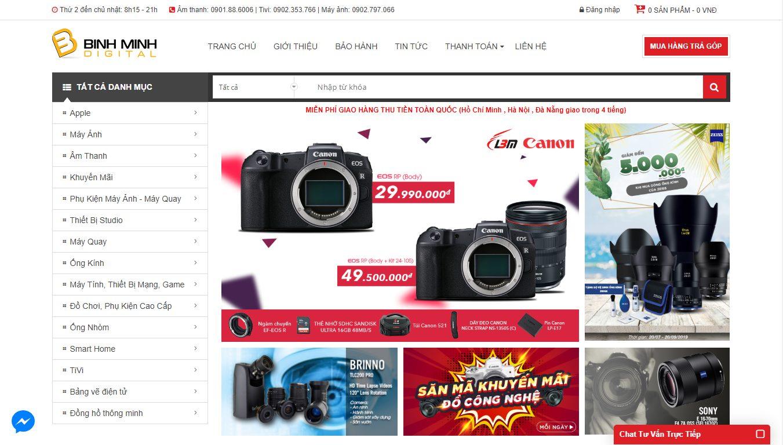 Tran bán hàng của Bình Minh Digital