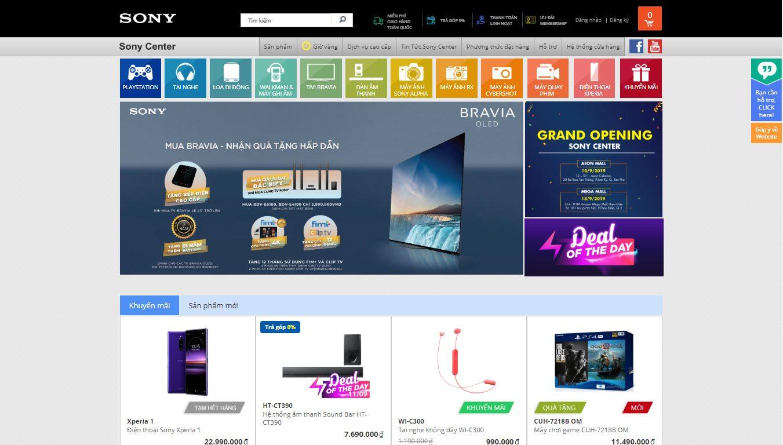 Trang bán hàng của Sony