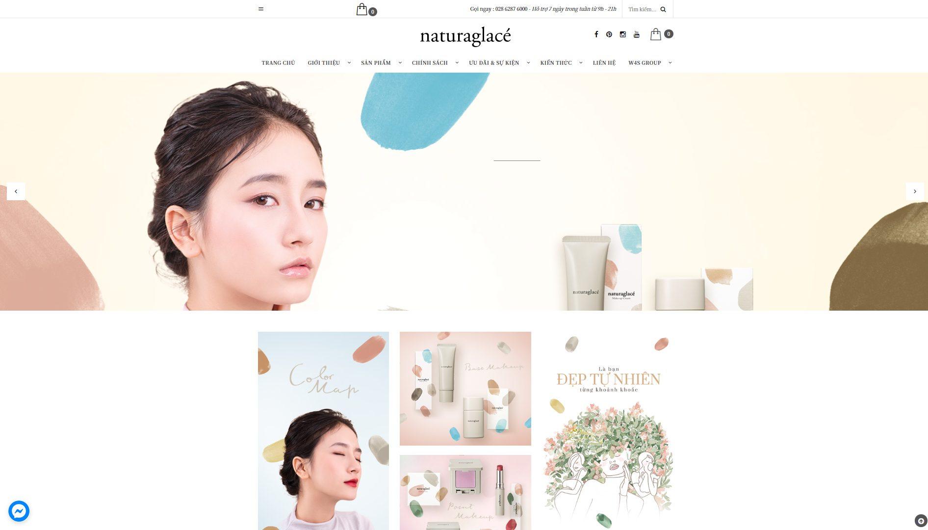 Trang bán hàng của Naturaglacé